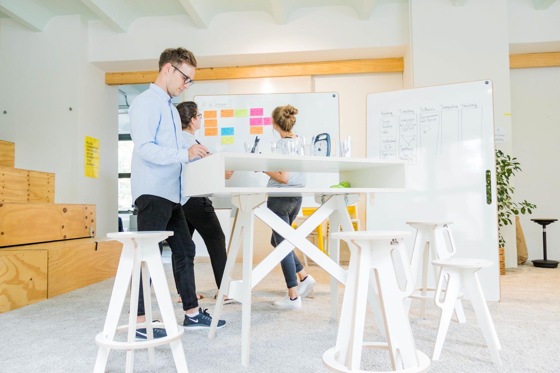 Ein ganzer aufgebauter Teamspace