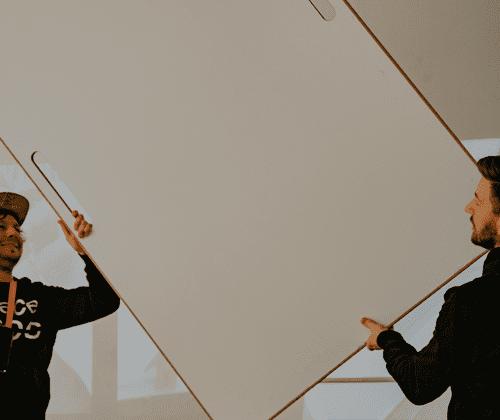 Design Whiteboard (BigBoard) in Halterung