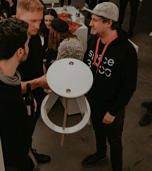 spaceRocket Hocker beim Launchevent