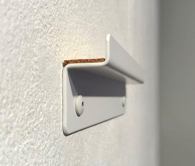 leane Wandhalterung in weiß für die space3000 Design-Whiteboards