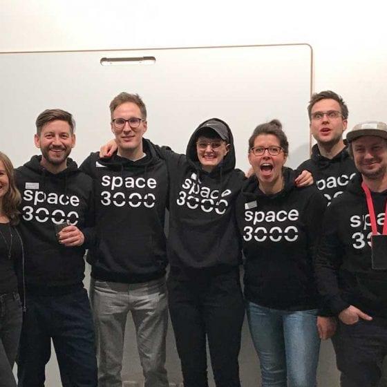Das Team von space3000 nach dem Launchevent