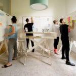 Kreativraum für Workshops mit Design Whiteboards