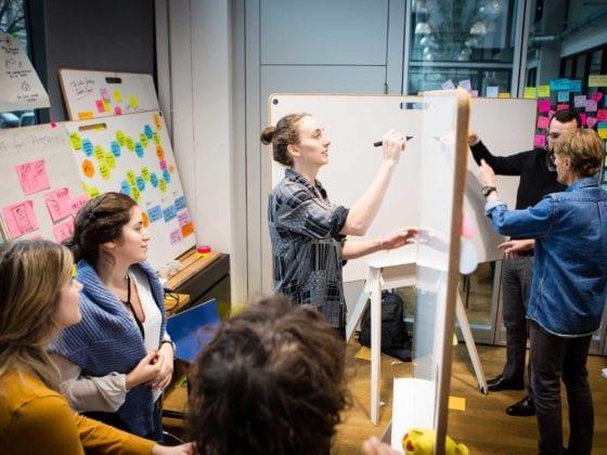 Whiteboards und Workshop Teilnehmer in Berlin