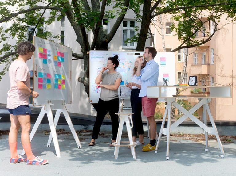 Workshop Session im Freien