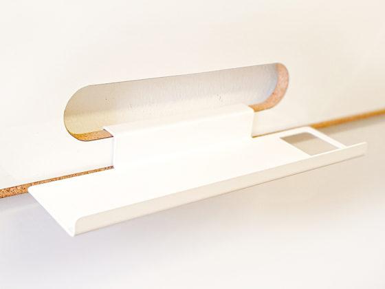 Ablage aus weiß gepulvertem Alu für Whiteboards